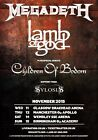 MEGADETH - LAMB OF GOD Co-Headlining November 2015 UK Tour PHOTO Print POSTER 01