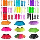 NEON TUTU SKIRT GLOVES BEADS NECKLACE LEGWARMERS OR SET LOT 80S COSTUME