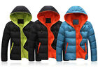 New Casual Mens Winter WARM Hooded Overcoat Padded Parka Jacket Coat Outerwears