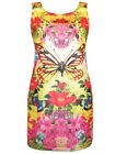 PLUS SIZE Sleeveless Trompe L'oeil 3D BUTTERFLY Print Tunic Top 14/16 to 22/24