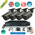 4 Channel AHD CCTV DVR Recorder with 1Mega Pixel 720P Security Cameras