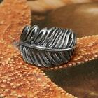 STERLING SILVER FEATHER RING SOLID.925 /NEW JEWELERY  SIZE J - U