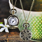 Fashion Vintage Women Watch Bronze Quartz Pocket Watch Pendant Necklace Watches