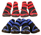 AU Dog Shoes Blue / Red Waterproof XXS XS S M L XL XXL Boots Booties Paws Injury