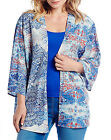 Anthology @ Marisota Blue ETHNIC Print Lightweight Kimono Top Sizes 12 to 30