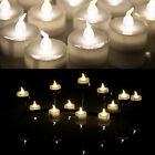 100 Flicker&Steady on LED Tea Light Battery Candles Flameless 3 Colors Wed/party