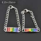 1 Pc Pride LGBT Rainbow Style Stainless Steel Chain Gay Bracelet Bangle Unisex