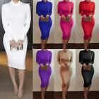 Fashion Women Ladies Long Sleeve Bodycon Slim Sexy Cocktail Evening Party Dress