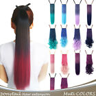 OneDor®Dip-dye Color TwoTone Ponytail Drawstring Wrap&Clip in Hair Extensions