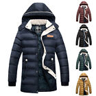 MENS Winter Jacket Coat THICK Hooded Puffer Puffa Zip Up Hoodie Padded Outerwear
