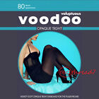 Voodoo Voluptuous Black Opaque Tight Tights Pantyhose 80 D Plus Size 18 20 22 24