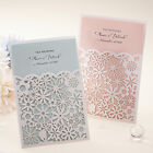Custom Laser Cut Laced Wedding Invitations Blue or Pink Inner Sheets CCL8002A