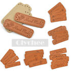 5  Pcs/lot Synthetic Leather Hand Made Tags Labels For DIY Sewing  Craft Brown