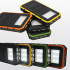 20000mAh 2USB 6 LED Solar Power Bank Battery Flashlight Charger For Cell Phone