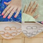 6pcs /Set Urban Rings Crystal Above Knuckle Band Midi Mid Ring Women Jewelry