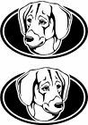 2 Black and Tan Virginia Foxhound dog breed RIGHT LEFT decals sticker stickers