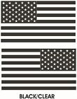 2 American Subdued Flag USA Tactical Military Black-Clear Decal Sticker Signs