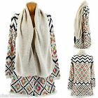 Cardigan Long Vest Wool Ethnic Beige - JOSSELIN - Woman - CharlesElie94