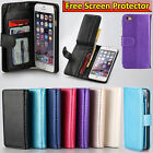 Smart Leather Wallet Flip Case Cover Skin Cards Money Purse For iPhone 4 6 6S AU
