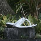 WOMENS T-Bar Wedge Sandals Mischief Claire Sizes 5 6 7 8 9 10 11 12 White Silver