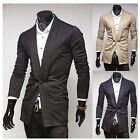 2015 New Fashion Men's One Button Fleece Cardigan Jumper Formal Business Outwear