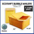 "1-2100 #7 14.25x20 ""EcoSwift"" Kraft Bubble Mailer Padded Envelope Bag 14.25 x 20"