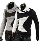Mens Slim Fit Heap Collar Knitwear Pollover Heap Collar Knitted Sweater Sz XS-L