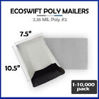 """1-10000 7.5x10.5 """"EcoSwift"""" Poly Mailers Envelope Plastic Shipping Bags 2.35 MIL"""