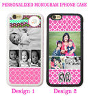 PERSONALIZED PHOTO PINK MOROCCAN PHONE Case For iPhone XR XS 8 7 6S Custom IMAGE
