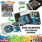 PREMIUM DVD Sleeves - Fits Movie Covers - DVD Plastic Binder Sleeve Black White