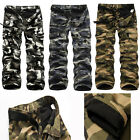 Stylish Mens Winter Warm Casual Fleece Lined Camo Cargo Pants Work Trousers Pant
