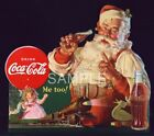 Fabric Art Quilt Block * Vintage Coca-Cola Santa Claus * 17-086 FREE SHIPPING $18.48  on eBay