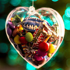 5PCs Christmas Decoration Heart Clear Plastic Balls Can Open Bauble Ornament