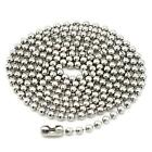 Fashion Men Women Stainless Steel Bead Chain Necklace 2-2.4mm New DF2019