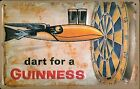 Dart For A Guinness large embossed steel wall sign  400mm x 300mm   (hi)
