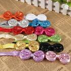 12 Colors Infant Baby Headbands Bow Hair Accessories Adjustable Hair Band New