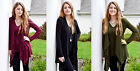 Oversize Womens Long Sleeve Thin Soft Cardigan Jumper Sweater Tops Jacket Coat