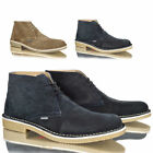Mens boys suede leather casual desert chukka lace up work winter boots size