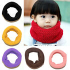 RD Cute Baby Kids Winter  Warm Wool Scarf Infinity Cable Knit Cowl Neck Shawl