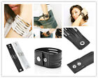 Chic Punk Multilayer Womens Cuff Bangle Gothic Chain Leather Bracelet Jewelry ID