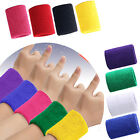 Sport Sweatbands Wrist Sweat Bands Wristband Towelling Fitness Gym Ladies