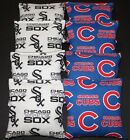 All Weather CHICAGO White Sox & Cubs CORNHOLE BEAN BAGS 8 Regulation WATERPROOF