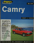 TOYOTA CAMRY SV20, 21 Series 1987-1989 Ser/Rep Manual Gregory's No 244