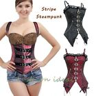 2 style steampunk corset gothic shaper lace up boned belt waist cincher top  K22