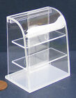 1:12 Scale Acetate Counter Display Unit With A Curved Top Dolls House Miniature
