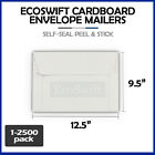 1-2500 12.5 x 9.5 EcoSwift Self Seal Photo Ship Flats Cardboard Envelope Mailers