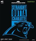 Carolina Panthers NFL Football Str8 Outta Carolina Vinyl Decal Car Window Stickr