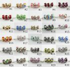 Silver Murano Glass Beads Lampwork Charm Bead Fit European Charm Bracelet New