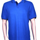 Polo shirt Fila Mens Blue cotton Button down graphic S Sleeve S & M