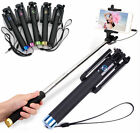 Handheld Bluetooth Wired Remote Shutter Selfie Stick Monopod For iPhone Samsung
